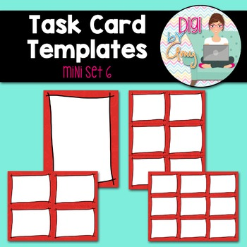 Task Card Templates clipart - MINI SET 6