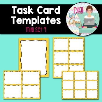 Task Card Templates clipart - MINI SET 9
