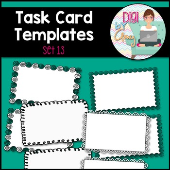 Task Card Templates clipart - SET 13