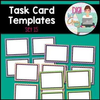Task Card Templates clipart - SET 15