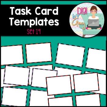 Task Card Templates clipart - SET 19