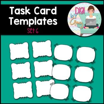 Task Card Templates clipart - SET 6