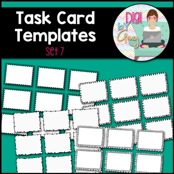 Task Card Templates clipart - SET 7