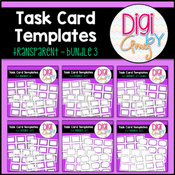 Task Card Templates clipart - Transparent Set 3