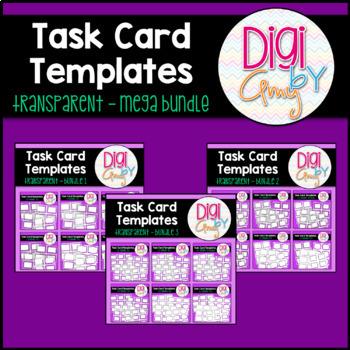 Task Card Templates clipart - Transparent Set BUNDLE clipart