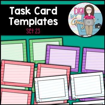 Task Card Templates clipart - SET 23