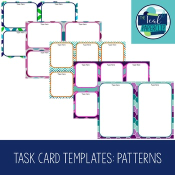 Task Card Template: Patterns