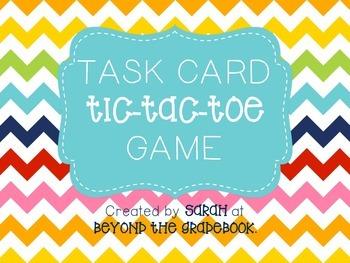 Task Card Tic-Tac-Toe Game