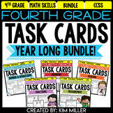 Fourth Grade Math Review: Task Cards {Bundle}