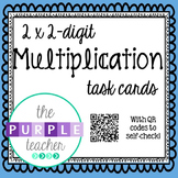 2-digit Multiplication Task Cards with QR Code