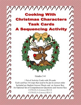 Task Cards- A Sequencing Activity Grades 3-4 Cooking With