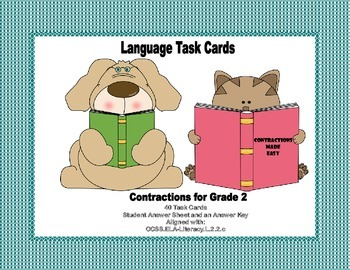 Task Cards All About Contractions Grade 2