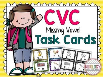 Task Cards - CVC - Vowels - SCOOT