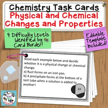 Chemistry Task Cards Introduction to Matter, Properties, a