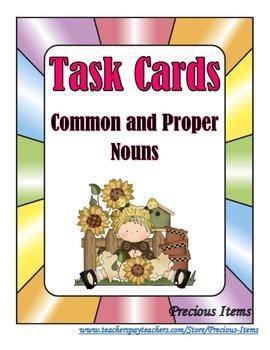 Task Cards:  Common or Proper Noun?