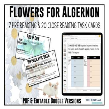 """Task Cards - """"Flowers for Algernon"""""""