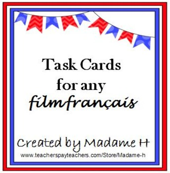 Task Cards For Any Film Français
