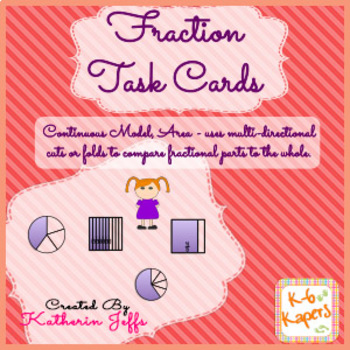 Task Cards - Fractions area model