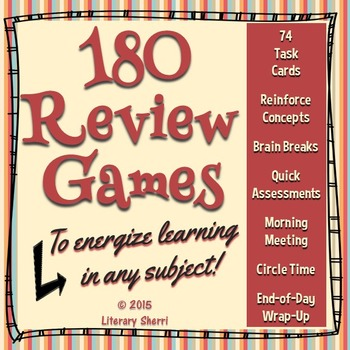 Review Games and Brain Breaks for Middle School (Grades 5,