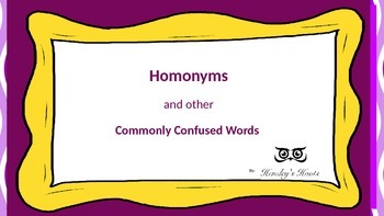 Task Cards: Homonyms and Commonly Confused/Troublesome Words