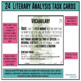 Task Cards - Literary Analysis (use with ANY novel or shor