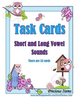 Short and Long Vowel Sounds - Task Cards