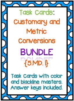 Task Cards: Measurement and Data  {Bundle}
