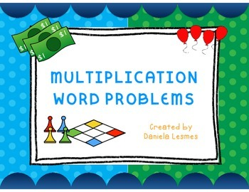 Math Task Cards Multiplication Word Problems