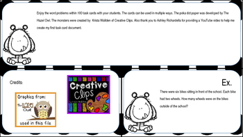 Task Cards - Multiplication Word Problems within 100