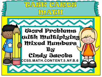 Task Cards Multiplying with Mixed Numbers