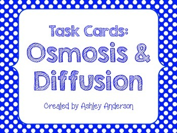Task Cards: Osmosis and Diffusion