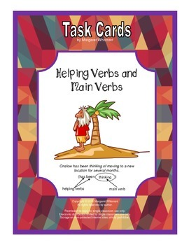 Task Cards Parts of Speech Verbs  Helping Verbs and Main V