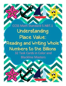 Task Cards/SCOOT: Place Value [Reading and Writing Whole N
