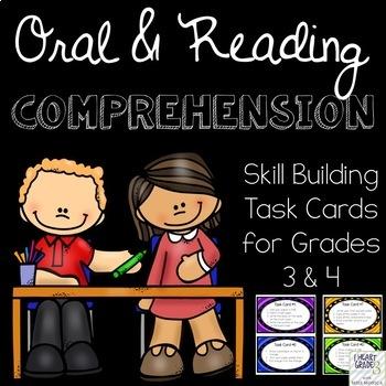 Oral & Reading Skill Building Task Cards