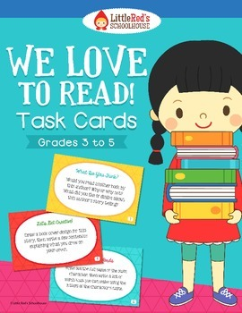 Reader Response Task Cards { We Love To Read! } For use wi