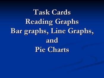 Task Cards Reading Graphs Bundle: Line Graphs, Bar Graphs,