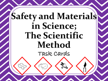 Task Cards Scoot Activity Safety&Materials in Science, Sci