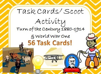 Task Cards Scoot Activity The Turn of the Century 1880-191