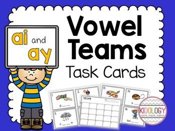 Vowel Team Task Cards