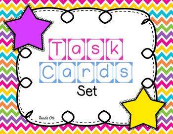 Task Cards Set (Spanish and English)