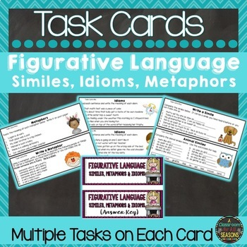 Similes, Metaphors and Idioms Task Cards (Common Core Grades 3-6)