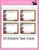 Editable Task Card Template - Ladybug Theme