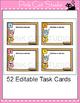 Editable Task Cards Template - Owl Theme