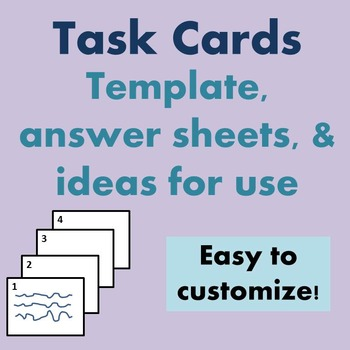 Task Cards Writable Template & Ideas for World Languages Use