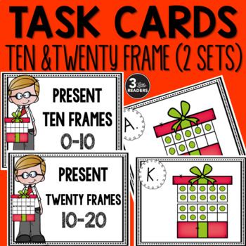 Christmas Present Task Cards {Ten and Twenty Frames}