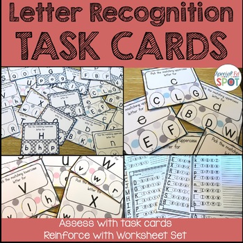 Task Cards: Upper and Lower Case Letters