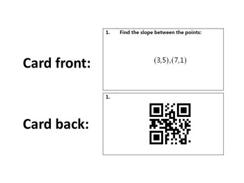 Task Cards With QR Codes - Slope