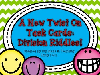 Task Cards With a Twist Riddles...Divison SUPER FUN!