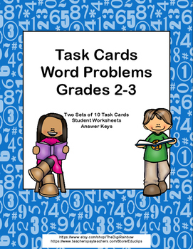 Word Problems Grades 2 -3-Task Cards