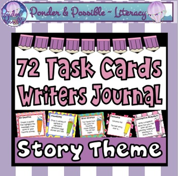 Task Cards - Writer's Journal - 72 ideas for story writing
